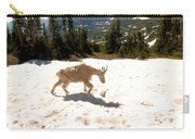Mountain Goat Crossing A Snow Patch Carry-all Pouch