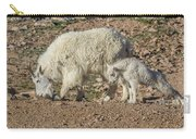 Mountain Goat Kid Stretches By Mom Carry-all Pouch
