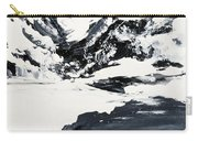 Mountain Lake In Black And White Carry-all Pouch