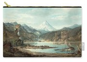 Mountain Landscape With Indians Carry-all Pouch