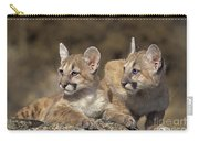 Mountain Lion Cubs On Rock Outcrop Carry-all Pouch