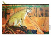Mountain Lion In Thought Carry-all Pouch