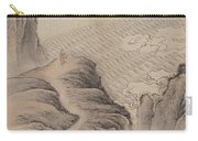 Mountain Path Landscape Ink Painting Carry-all Pouch