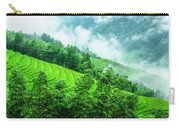 Mountain Scenery In Mist Carry-all Pouch