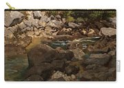 Mountain Stream With Boulders Carry-all Pouch