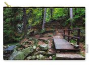 Mountain Trail With Staircase In Autumn Forest Carry-all Pouch