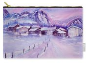 Mountain Village In Snow Carry-all Pouch