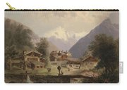 Mountain Village With Alpine Panorama Carry-all Pouch