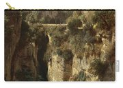 Mountainous Landscape With Waterfall Carry-all Pouch