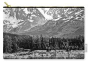 Mountains Alaska Bw Carry-all Pouch