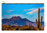 Mountains And Cactus Carry-all Pouch