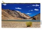 Mountains And Green Vegetation Chagor Tso - Lake Leh Ladakh Jammu Kashmir India Carry-all Pouch