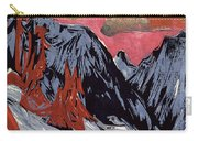 Mountains In Winter Carry-all Pouch by Ernst Ludwig Kirchner