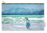Mountains Ocean With Little Girl  Carry-all Pouch