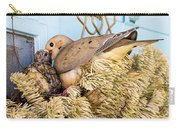 Mourning Dove And Chick Carry-all Pouch
