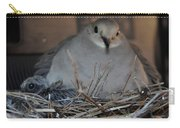 Mourning Dove With One Of Two Chicks Carry-all Pouch