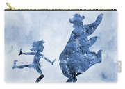 Mowgli And Baloo-blue Carry-all Pouch
