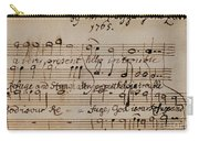 Mozart: Motet Manuscript Carry-all Pouch by Granger