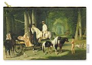 Mr And Mrs A Mosselman And Their Two Daughters Carry-all Pouch by Alfred Dedreux