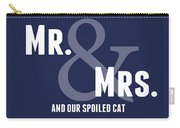 Mr And Mrs And Cat Carry-all Pouch