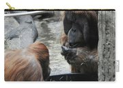 Mr And Mrs Orangutan Carry-all Pouch