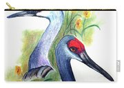 Mr And Mrs Sandhill Cranes Carry-all Pouch