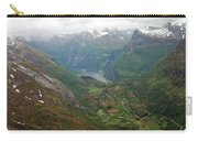 Mt. Dalsnibba And The Serpentine Descent To The Geirangerfjord Carry-all Pouch