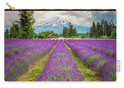 Mt. Hood And Lavender Carry-all Pouch