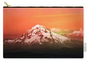 Mt Hood Oregon Sunset Carry-all Pouch by Aaron Berg