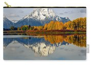 Mt Moran From Ox Bow Bend On A Fall Morning Carry-all Pouch