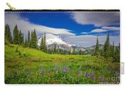 Mt Rainier And Wildflowers Carry-all Pouch