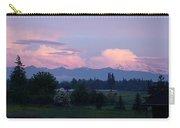 Mt Rainier Blush Carry-all Pouch