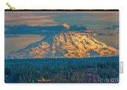 Mt Rainier Sunset Carry-all Pouch