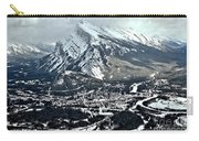 Mt Rundle Aerial View Carry-all Pouch