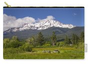 Mt Shasta With Picnic Tables Carry-all Pouch
