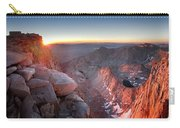 Mt Whitney And Pinnacles Sunrise - John Muir Trail Carry-all Pouch