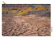 212648-mud Cracks Upper Cathedral Valley  Carry-all Pouch