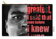Muhammad Ali - Cassius Clay Portrait 2 - By Diana Van Carry-all Pouch
