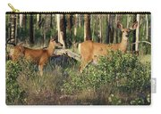 Mule Deer Doe And Fawn Carry-all Pouch