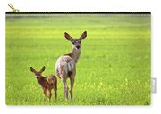 Mule Deer Doe And Fawn Looking Back Over Their Shoulders Carry-all Pouch