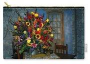 Multicolor Floral Arrangement Carry-all Pouch