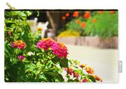 Multicolored Flowers Carry-all Pouch