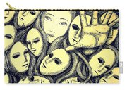 Multiple Personalities Carry-all Pouch by Paulo Zerbato