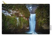 Multnomah Falls With Ice Carry-all Pouch