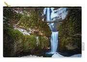 Multnomah Falls With Snow Carry-all Pouch