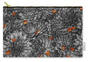Mum Petals Bw Carry-all Pouch