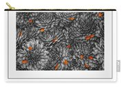 Mum Petals Bw Poster Carry-all Pouch