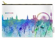 Munich Skyline Silhouette An Impressionistic Splash - Dream Cities Series Carry-all Pouch