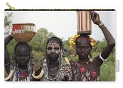Mursi Tribesmen In Ethiopia Carry-all Pouch