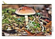 Mushroom And Moss Carry-all Pouch